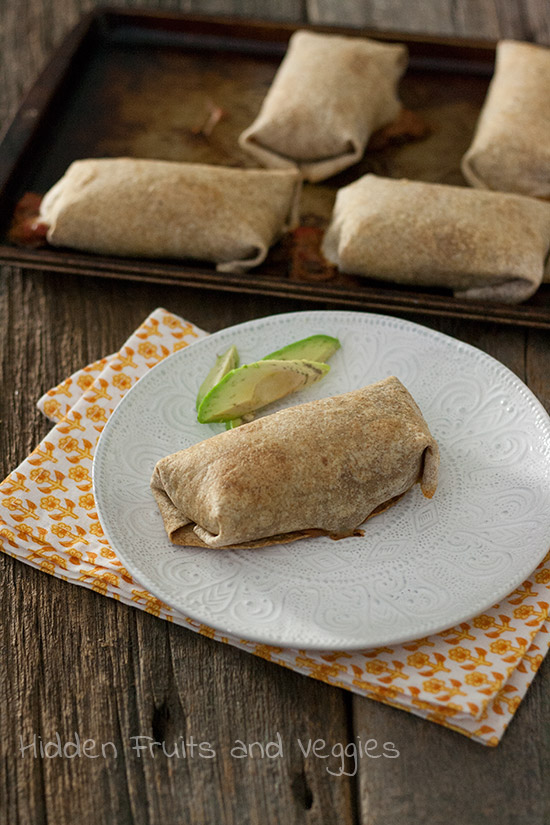 Black Bean Cream Cheese Chimichangas @hiddenfruitnveg