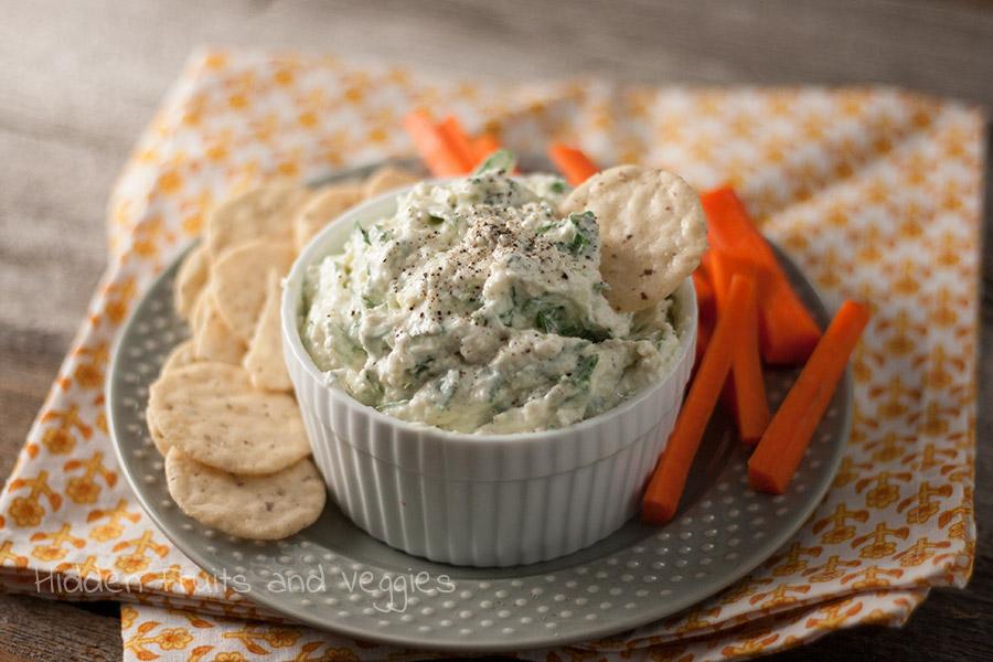 Creamy Asiago and Spinach Dip @hiddenfruitnveg