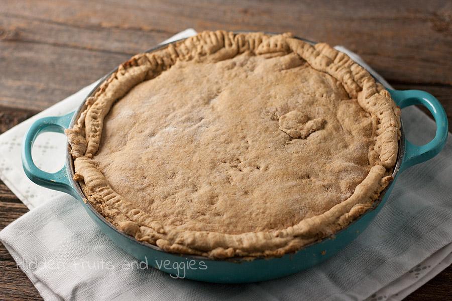 Veggie Pot Pie with Biscuit Crust @hiddenfruitnveg