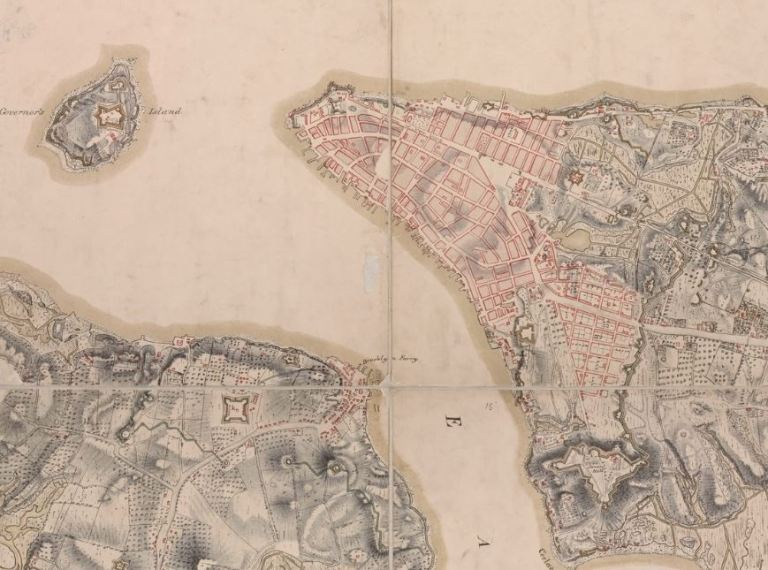 NYC  Post Postscript  Maps     Hidden Hydrology Fast forwarding a bit to the early 1820s  the Randel Map was an atlas of   Via The Greatest Grid website     Between 1818 and 1820  John Randel  Jr   prepared