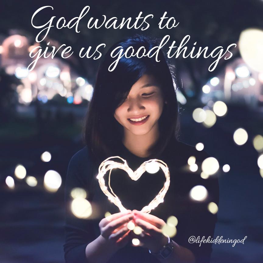 Girl holding light heart
