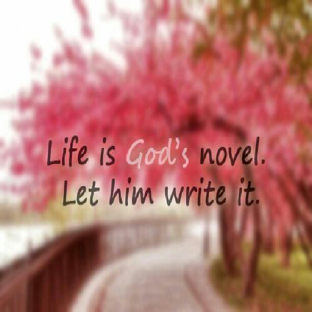 Life is God's novel. Let Him write it.