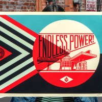 """Endless Power Petrol Palace"" new print by Shepard Fairey."