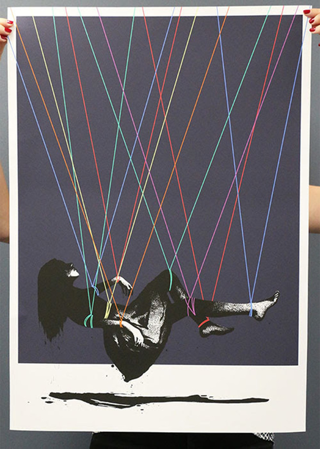 """Suspender"" A timed Release print by Eelus"