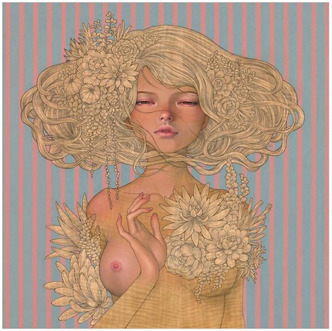 """""""Enchantress""""  new print by Audrey Kawasaki"""