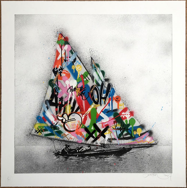 """Boat Etching"" new print by Martin Whatson"