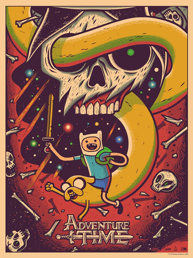 """Adventure Time"" new print by Dave Quiggle"