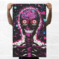 """X-Ray Spex"" Pink  print by Paul Insect"