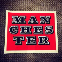 """Manchester (Red)"" print  by Ben Eine"