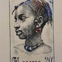 """Stamp Ivory Coast""  print by Guate Mao"