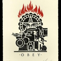 """Obey Printing Press"" new print by Shepard Fairey"