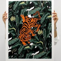 """Tiger Madness"" print by Dalk hafine"