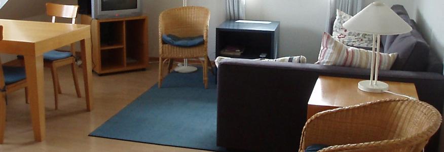 Wiesenbiotop 1, Wohnzimmer Ferienwohnung