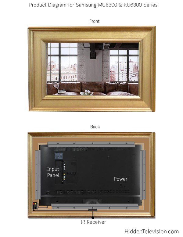 Samsung LED Mirror TV Product Diagram