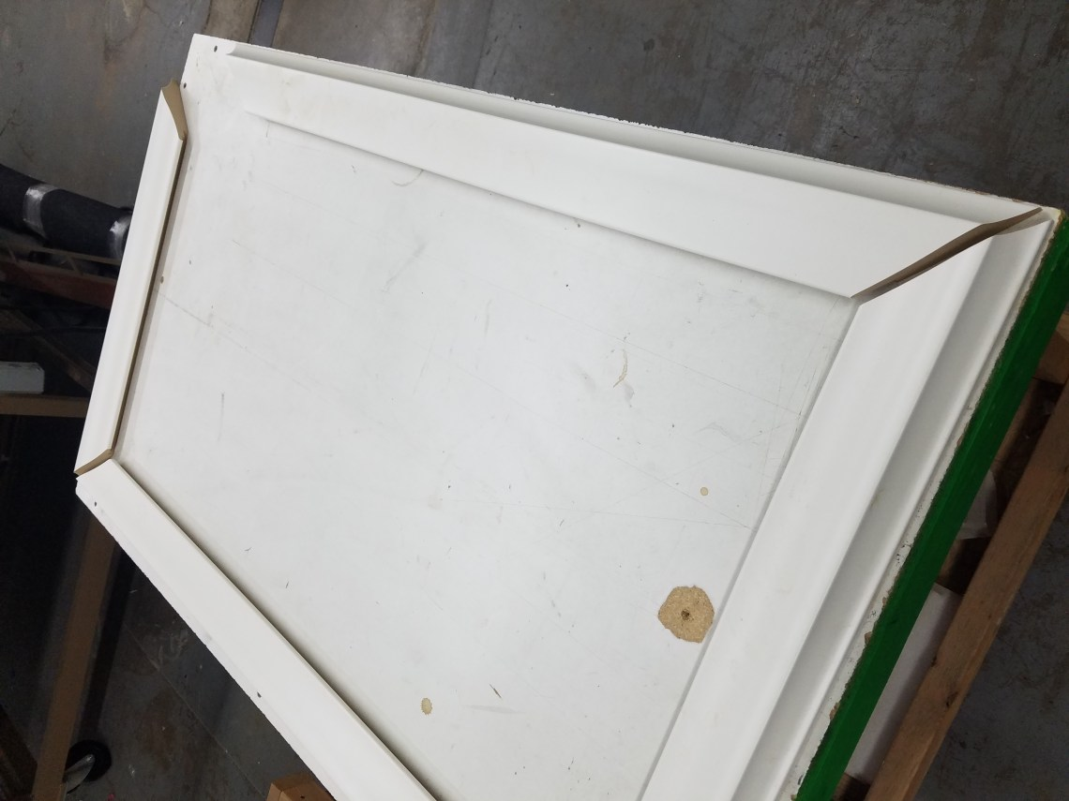 Double check and glue mirror tv frame sticks