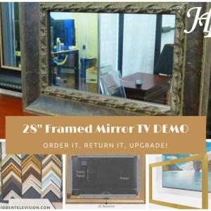 """28"""" Framed Mirror TV Demo"""