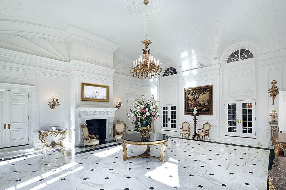 White grand foyer
