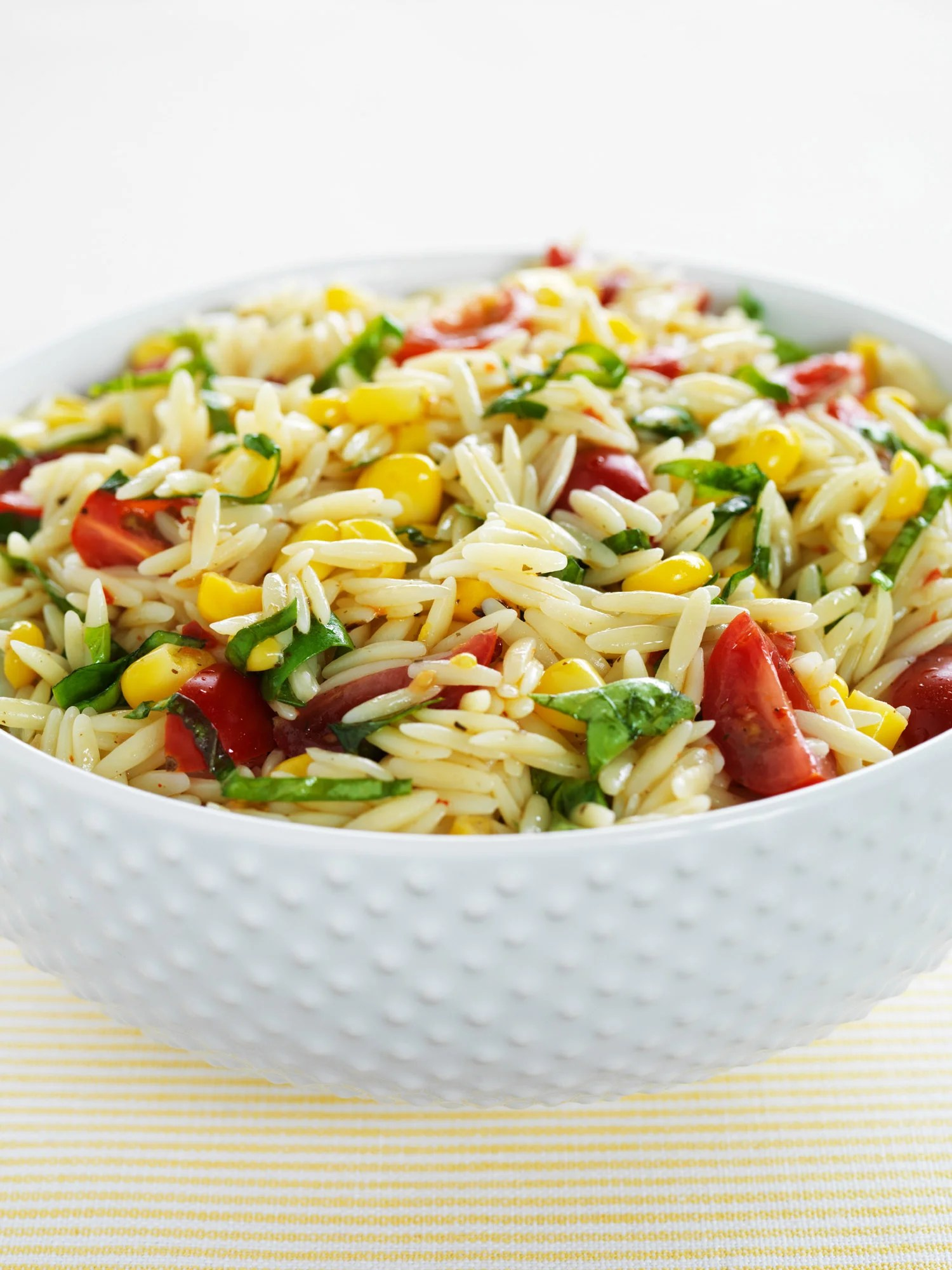 Orzo Pasta Salad With Tomatoes Corn And Basil Recipe Hidden Valley Ranch