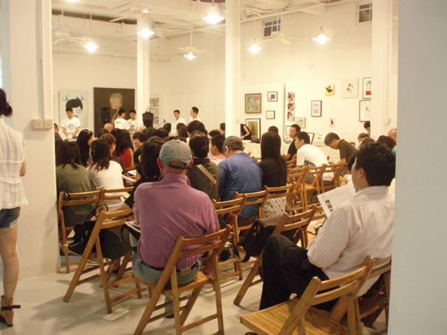 チャリティオークションの様子 Charity Auction in Shanghai 私のアートイベント報告 Hidemi Shimura