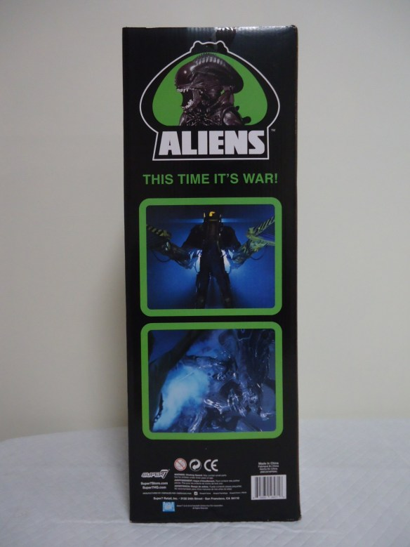 Rear of the Super 7 1986 'Classic Toy' Edition Box.