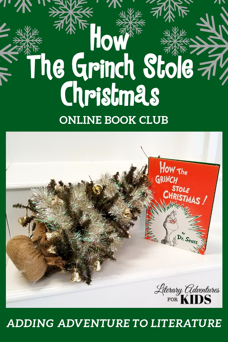 How the Grinch Stole Christmas online book club is part of the Ho-Ho Homeschool Bundle for holiday-themed curriculum choices. #homeschool #christmas #homeschoolcurriculum #ichoosejoyblog