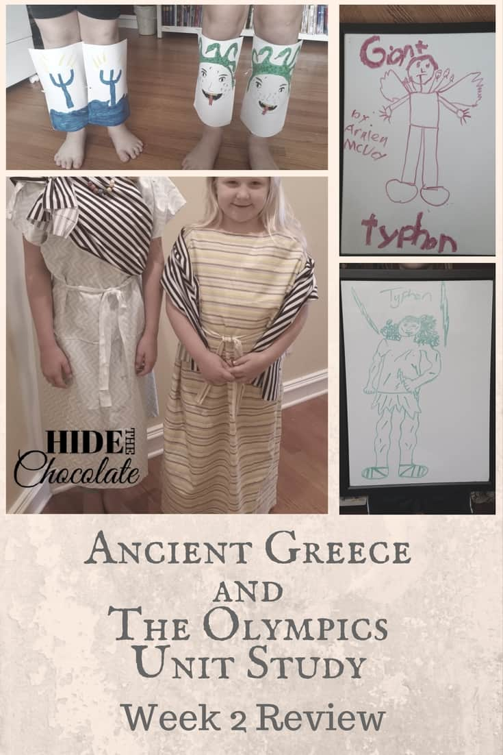 Ancient Greece and The Olympics Unit Study Week 2 in Review