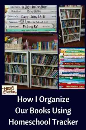 How I Organize Our Books Using Homeschool Tracker