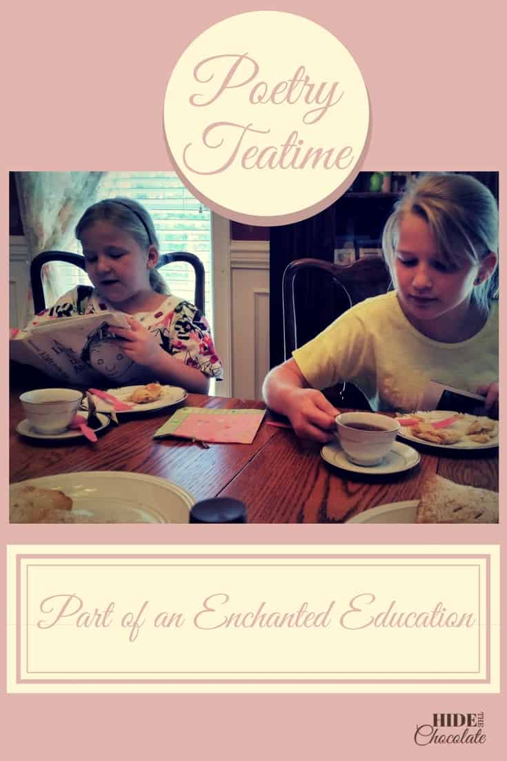 Poetry Teatime is a great way to enjoy literature while bonding with your children. I immediately was attracted to this