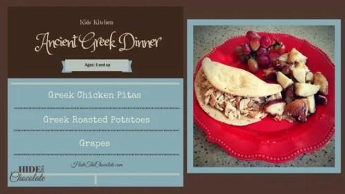 Kid Kitchen- Greek dinner