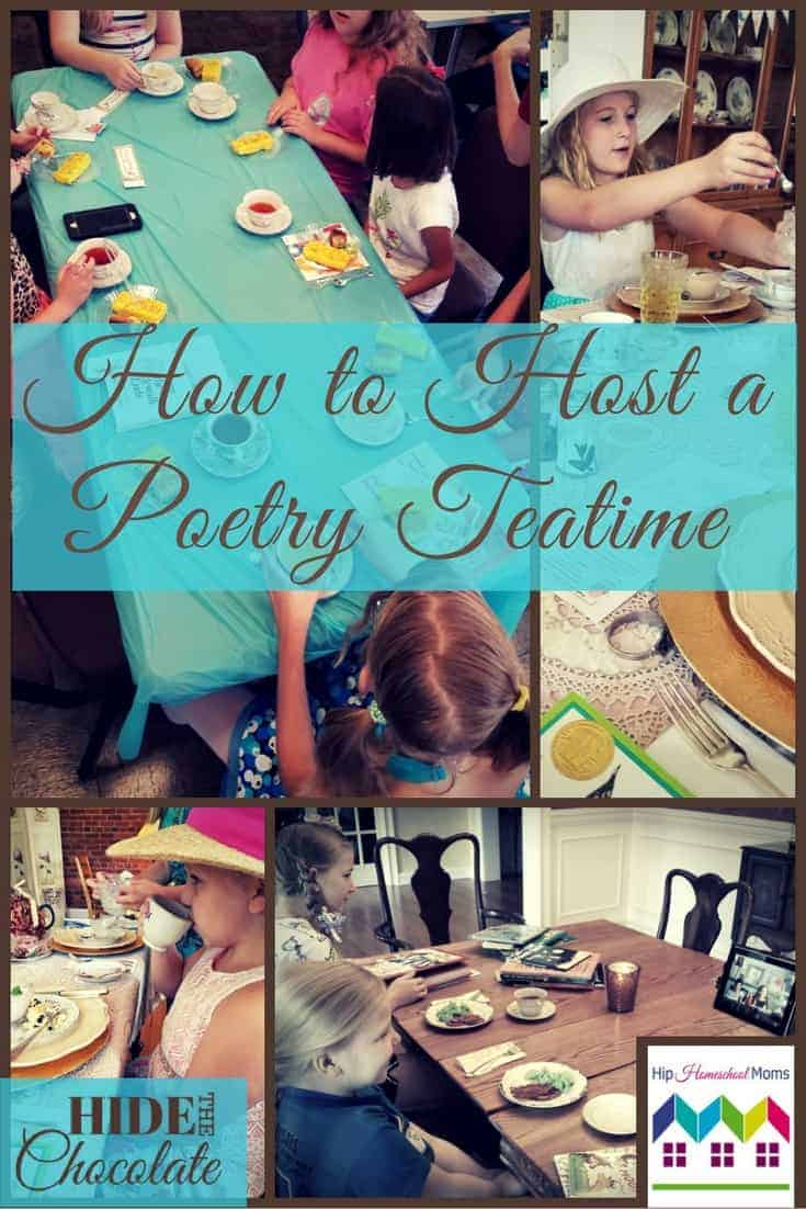 Poetry Teatime is a great way to enjoy literature while bonding with your children. My girls love Poetry Teatime. They enjoyed it when it was just us, their cocoa, and a few snacks. But when they discovered they could invite friends, Poetry Teatime jumped to a whole new level of awesome. #poetryteatime #homeschool
