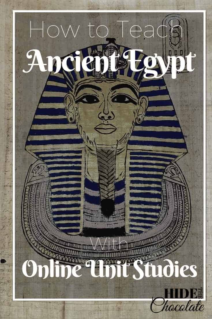 How to Teach Ancient Egypt with Online Unit Studies ~ Looking for online unit studies or studies on Ancient Egypt? With Online Unit Studies homeschoolers have all the resources they need for their Ancient Egypt Online Unit Studies. #OnlineUnitStudies #homeschool #ihsnet