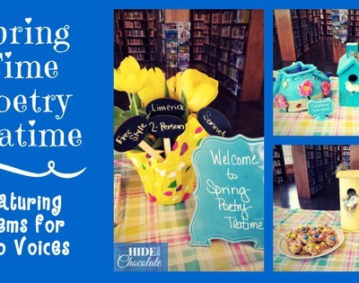 How to Host a Spring Time Poetry Teatime ~ Featuring Poems for Two Voices