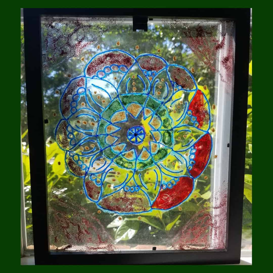 How to Create Faux Stained Glass Art with Kids
