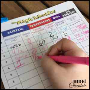 Day in the life of a nine-year-old homeschooler- Chart