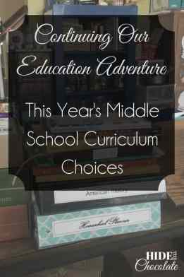 This Year's Middle School Curriculum Choices
