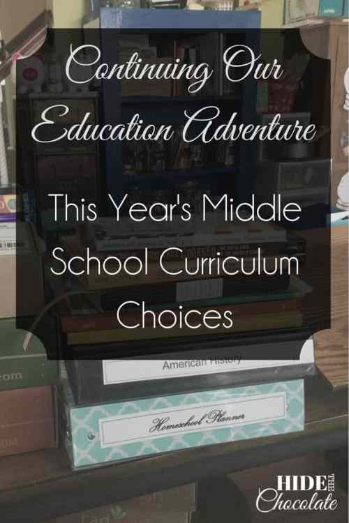 Continuing Our Education Adventure: This Year's Middle School Curriculum Choices