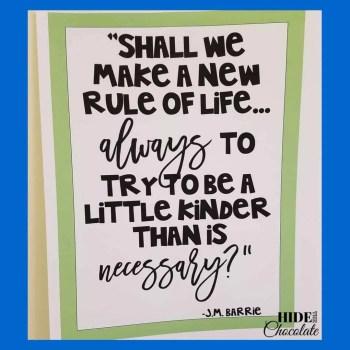 Wonder Book Club Kindness Poster