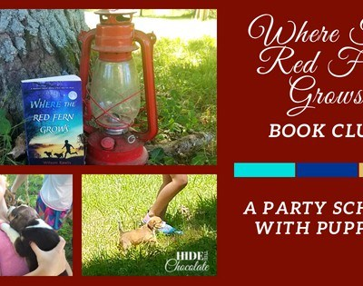 Where The Red Fern Grows Book Club ~ A Party School with Puppies