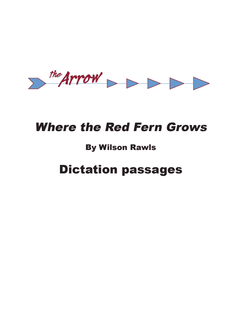 Where the Red Fern Grows Arrow