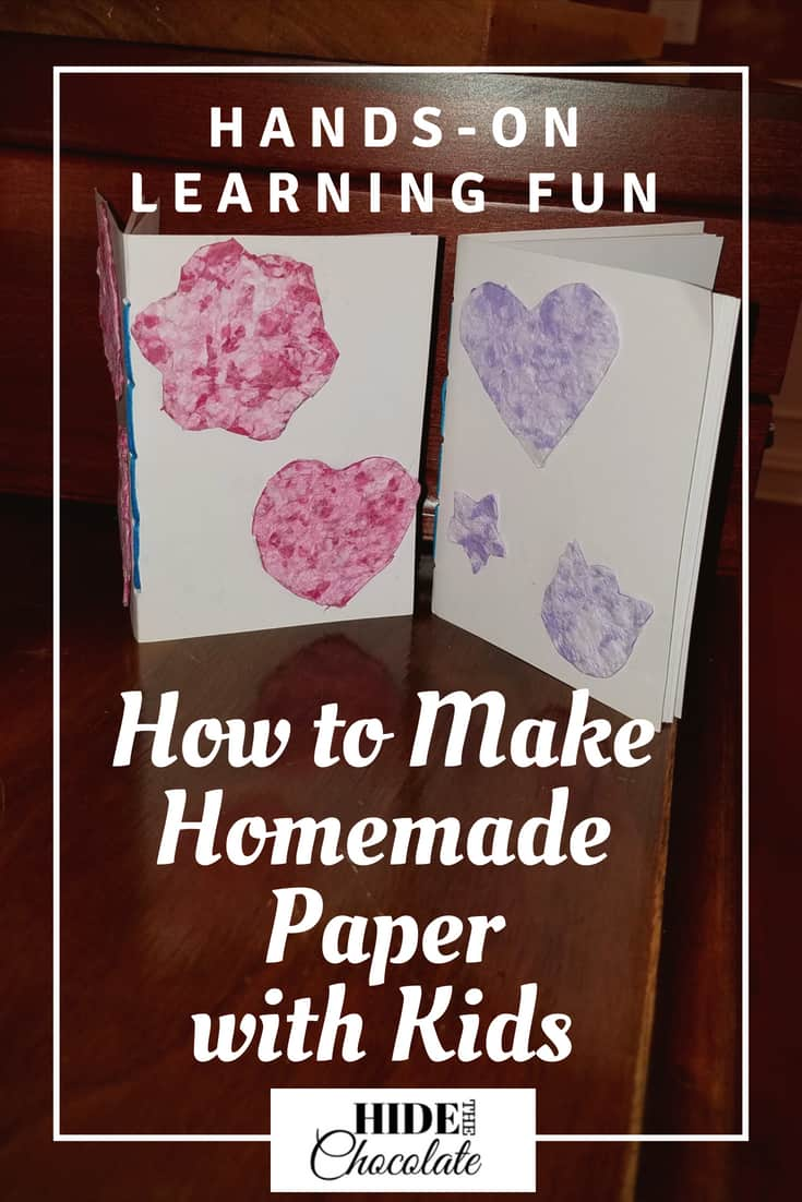 Making homemade paper is a wonderful craft to do with kids of any age. It is also a great way to recycle waste paper into exciting new items. And, it's a lot of fun! Learn how to make homemade paper with kids. #homeschooling