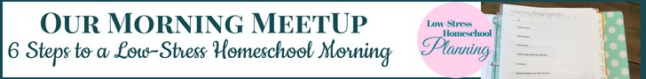 Our Morning Meetup: 6 Steps to a Low-Stress Homeschool Morning