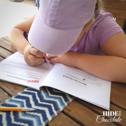Be The Hands Homeschool Bible Curriculum Student Working
