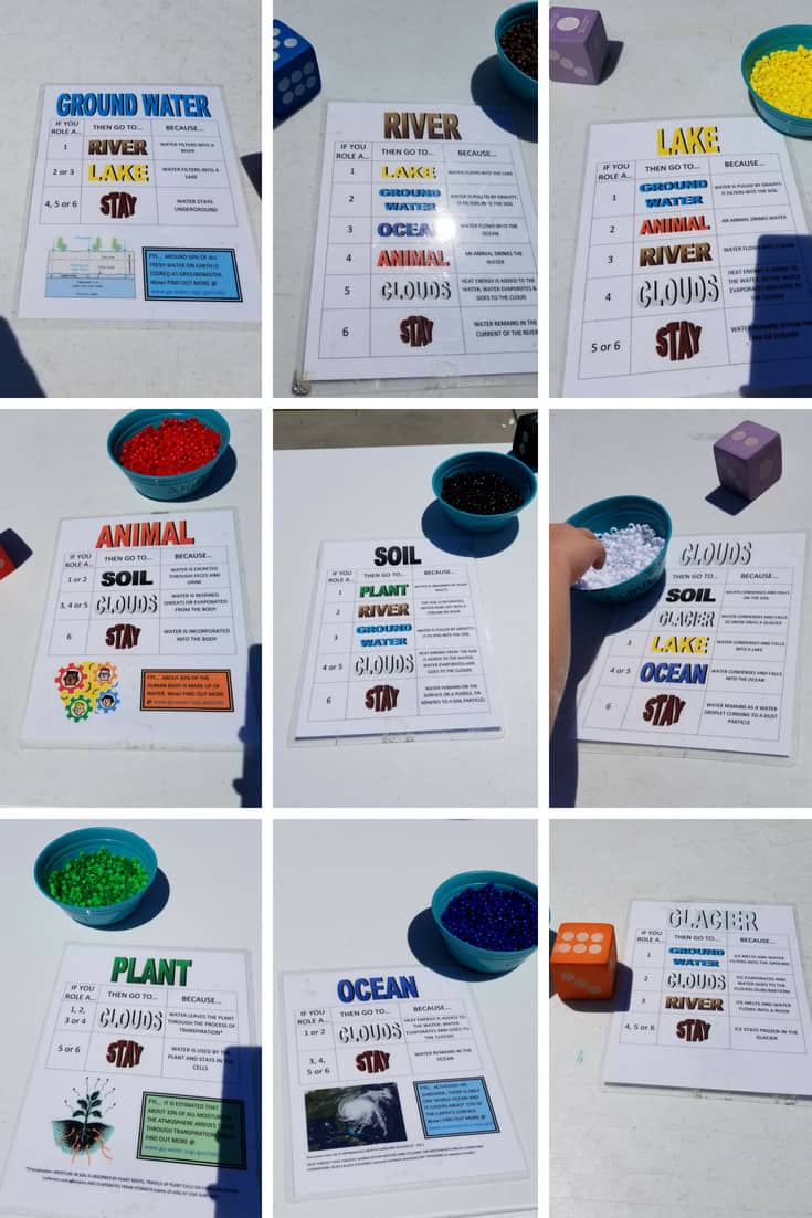 Raindrop Plop Book Club Water Cycle Bracelet Game Cards