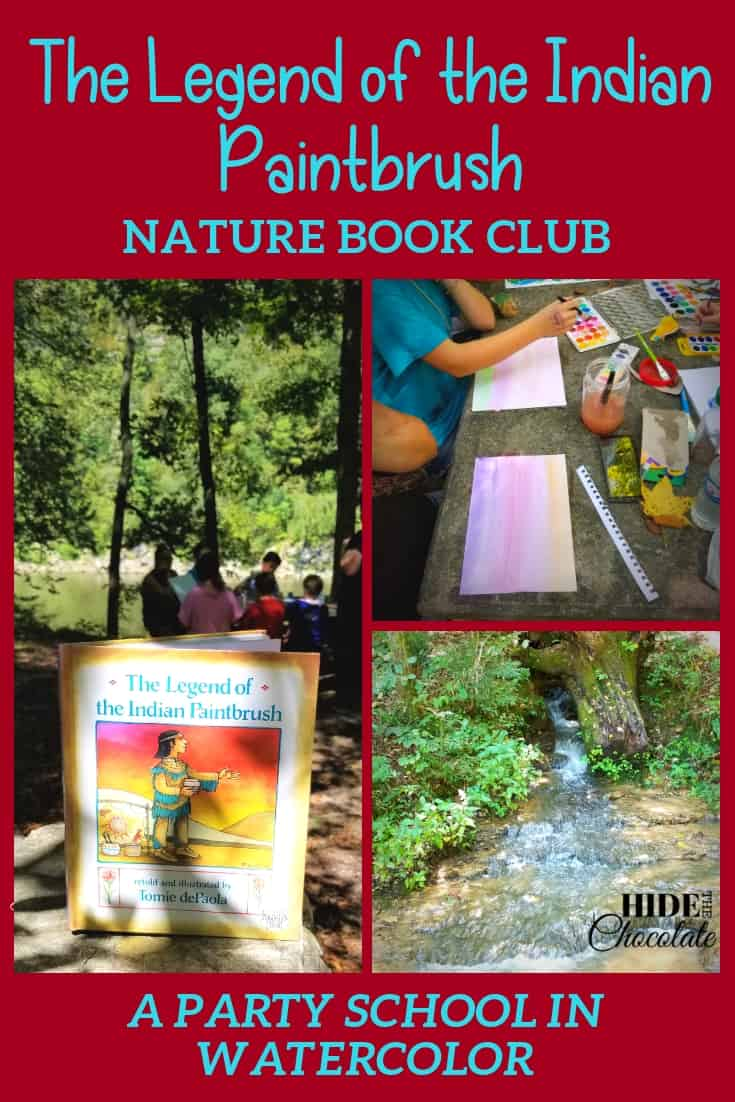 Bright colored mushrooms, flowing waterfalls and the legend of a wildflower inspired our paintings in our The Legend of the Indian Paintbrush Book Club this month.