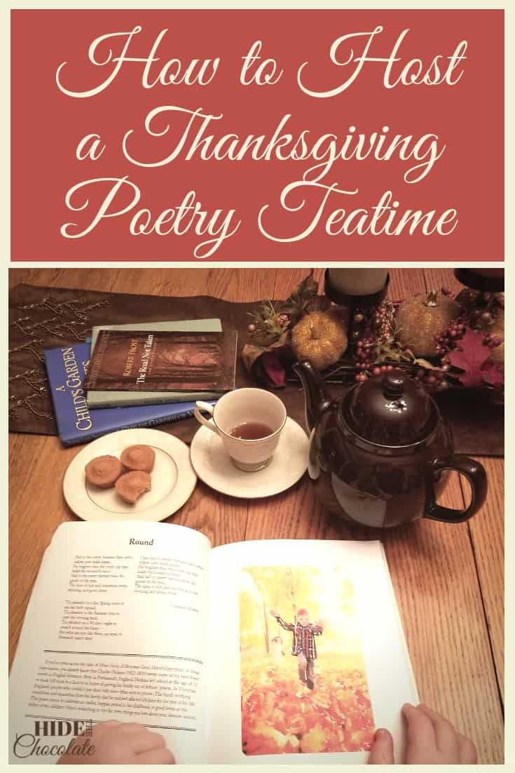 Pumpkin Spice Tea. Pumpkin Spice Snacks. Pumpkin Spice Poems? Can we have more fun with pumpkins and spice at our Thanksgiving Poetry Teatime?