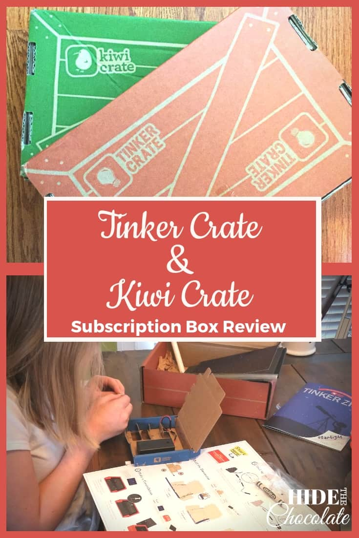 Tinker Crate and Kiwi Crate Subscription Box Review