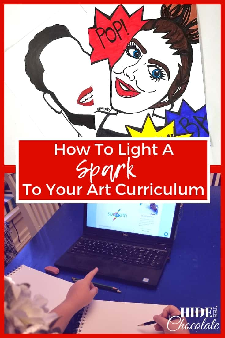 Learn how you can light a new spark to your #ArtCurriculum this year with Sparketh and their new art style #portraits track. #homeschoolart #homeschooling