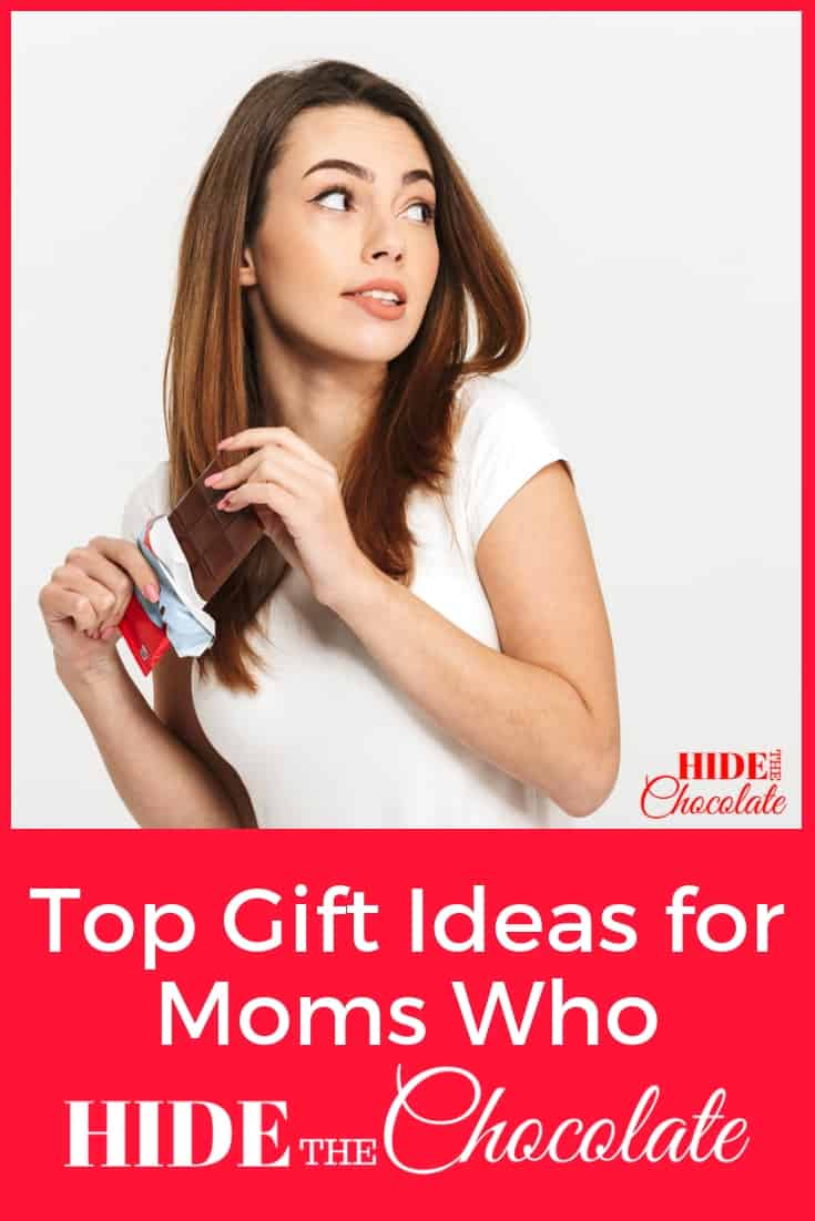 Over 50 gift ideas for moms who sometimes just need to hide in the closet with their chocolate... and a few other items that might take the edge off a stressful day.​ #giftguide #giftguideformom
