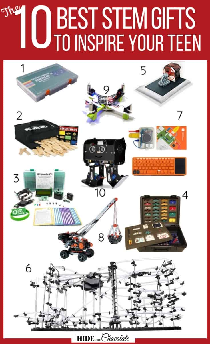 STEM gifts are some of the most difficult to choose, especially ones that will make your moody teenager smile. These are 10 of the best STEM gifts to inspire your teen we could find. #stemgift #homeschool
