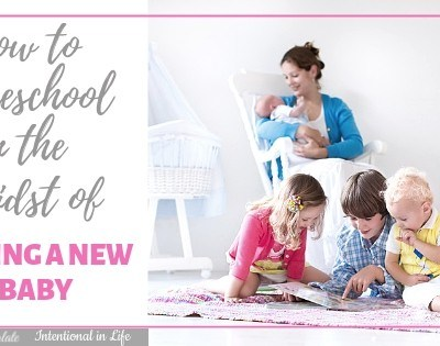 How to Homeschool in the Midst of Having a New Baby